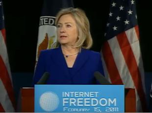 国务卿克林顿就国际互联网自由问题发表讲话