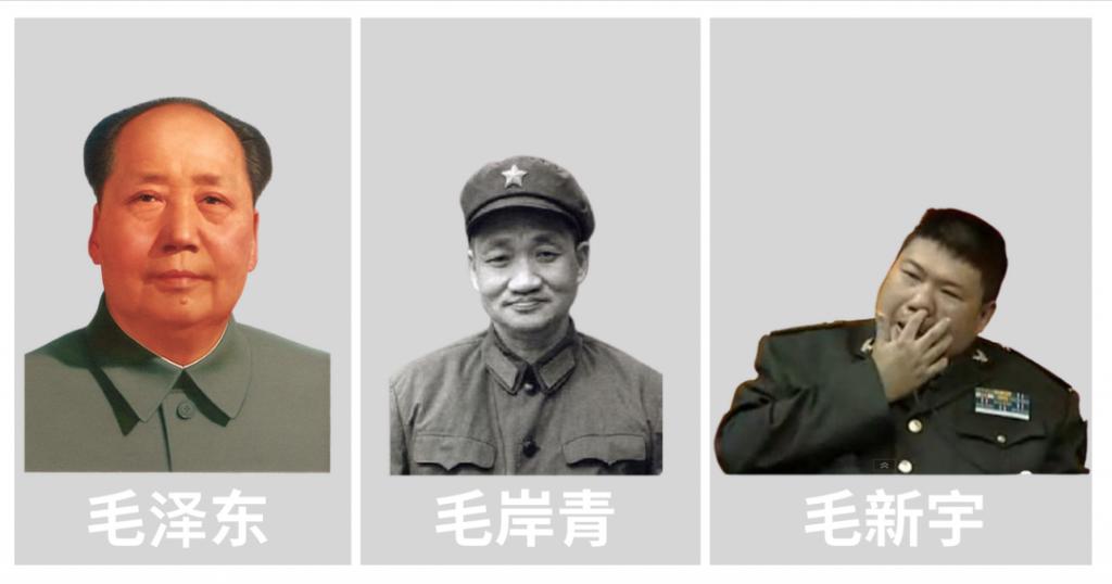 毛家三代,毛泽东,毛岸青,毛新宇